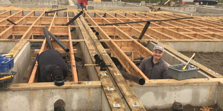 New construction Plumbing Services in Vancouver WA and Portland OR