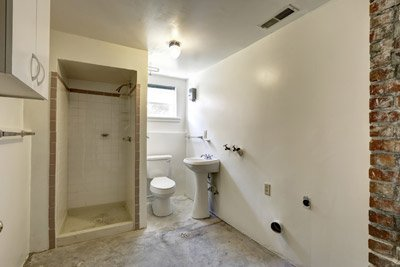 Basement bathroom. All County Plumbing, LLC provides sewage ejector pump repair and installation services in Vancouver WA and Battle Ground WA